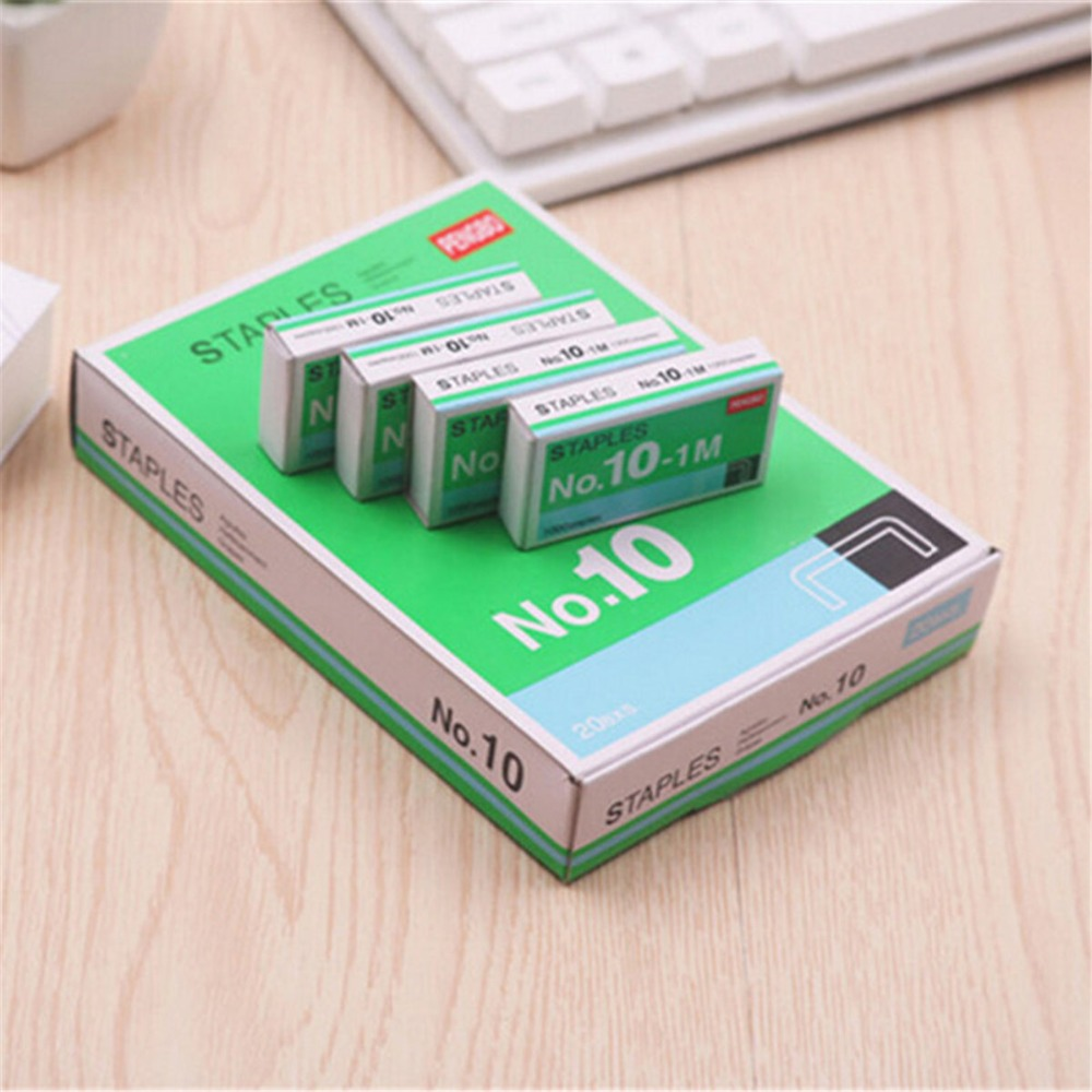 Mini Staples No. 10 Staples 20 Box/lot  Small Kawaii  Office Binding Universal For School Study Supplies Gifts Cute Stationery