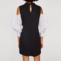 كيم كارداشيان مثير لباس المرأة الصيف الخريف كم طويل مساء حزب فساتين التريكو البسيطة الأسود مكتب الملابس زائد الحجم