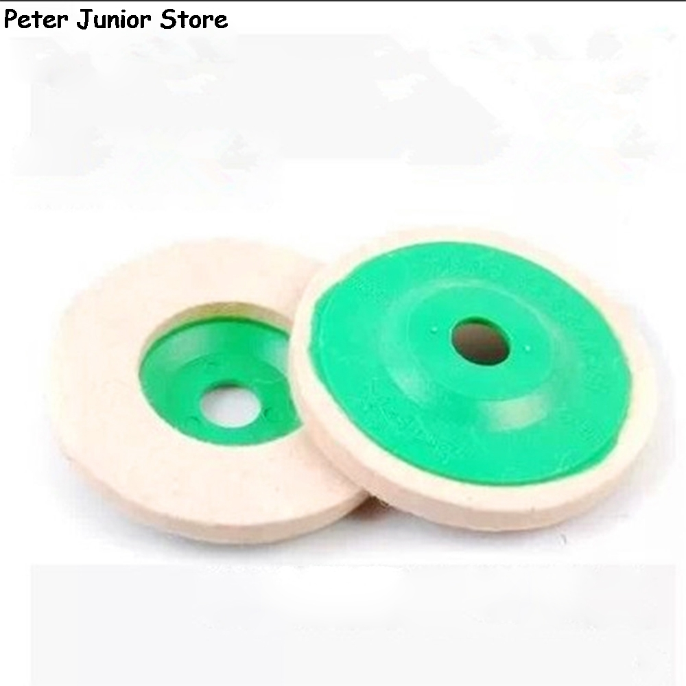 1Pc 5 Inch 125mm Round Polishing Wheel Wool Felt Buffing Polishers Pad Buffer Tools For Metal Marble GMN