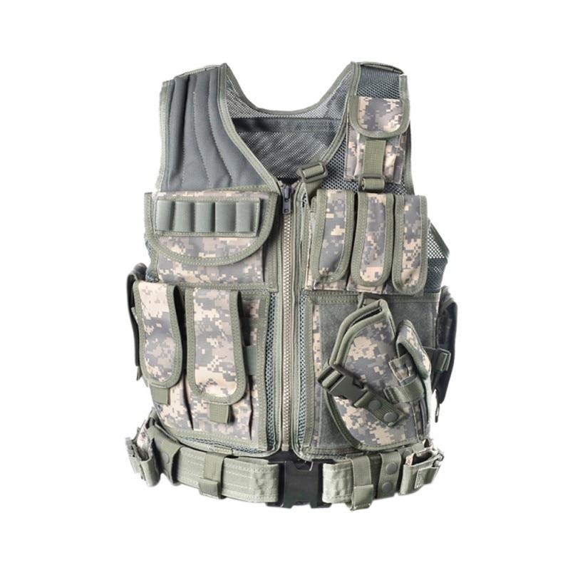 2018 открытый полиция Тактический Жилет Камуфляжный жилет военной бронежилет спортивная одежда охота армия SWAT Молл жилеты новое поступление