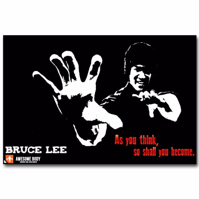 J1416 Bruce Lee Motivational Quotes Kung Fu Star Pop 14x21 24x36 Inches Silk Art Poster