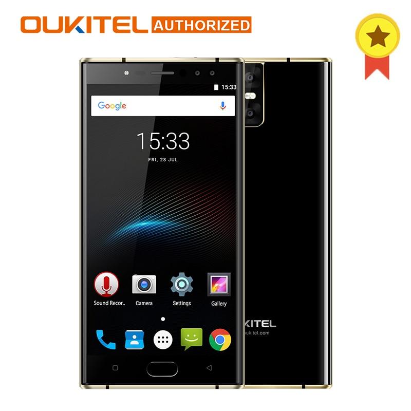 Pre-Sale 6000mAh OUKITEL K3 4 Cameras 4G Smartphone MTK6750T Octa-Core Android 7.0 4GB+64GB 16.0MP+2.0MP 5.5inch Mobile Phone