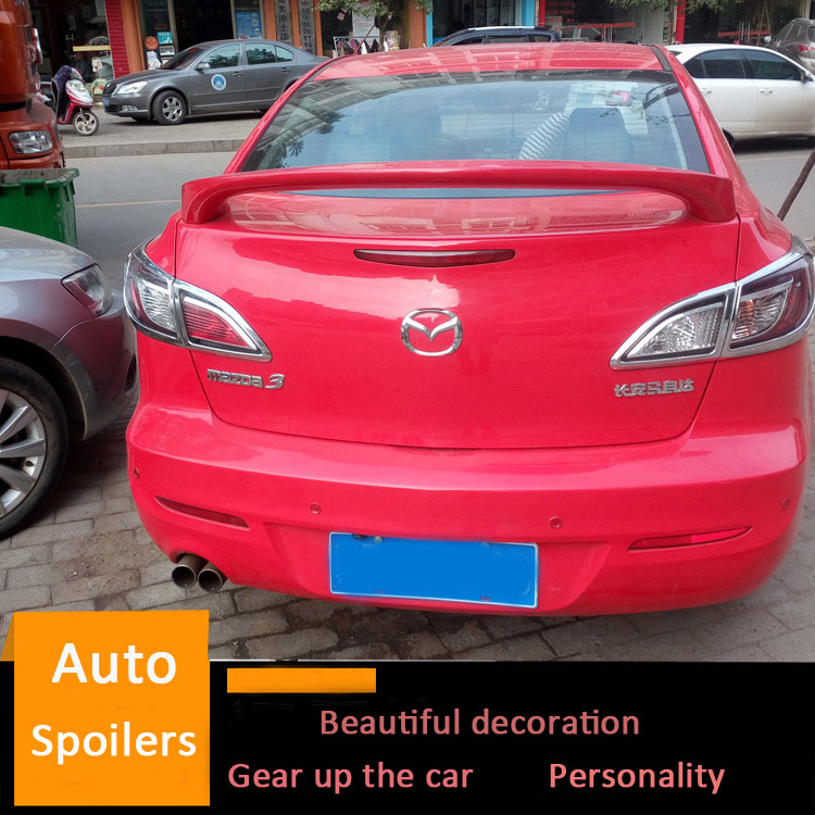 Us 26 55 41 Off For Mazda 3 Spoiler 2011 2012 2013 2014 2015 Mazda3 Big Abs Material Car Rear Wing Primer Color Trunk Rear Spoiler Sport In Spoilers