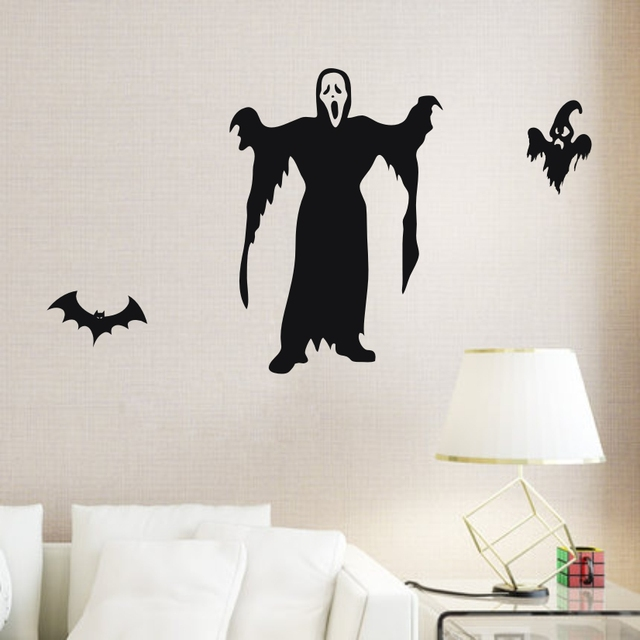 home decor wall art aya diy wall stickers wall decoration ghost design pvc