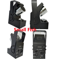 Eyourlife 4pcs 10W LED Moving Head Stage Lights Mini Rotate Roller Scanner Laser Strobe Effect Lighting DMX Control Party Light