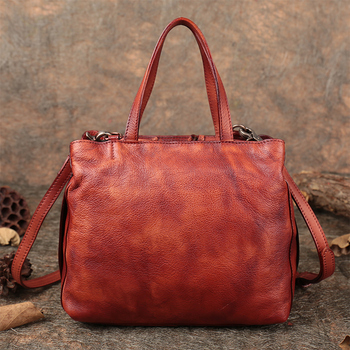 2019 Women's Handbag Natural Leather FCTOSSR Shoulder Messenger Bags Top-Handle Handmade Leather Pillow Lady Handbag Multi Color
