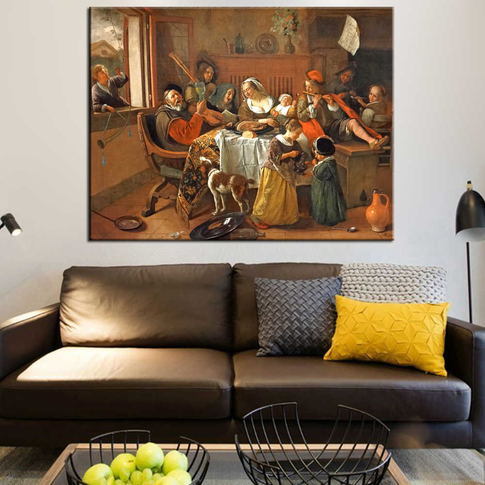 The Hy Family Wall Art Canvas Prints By Jan Havickszoon S Dutch Golden Age Reproductions Paintings
