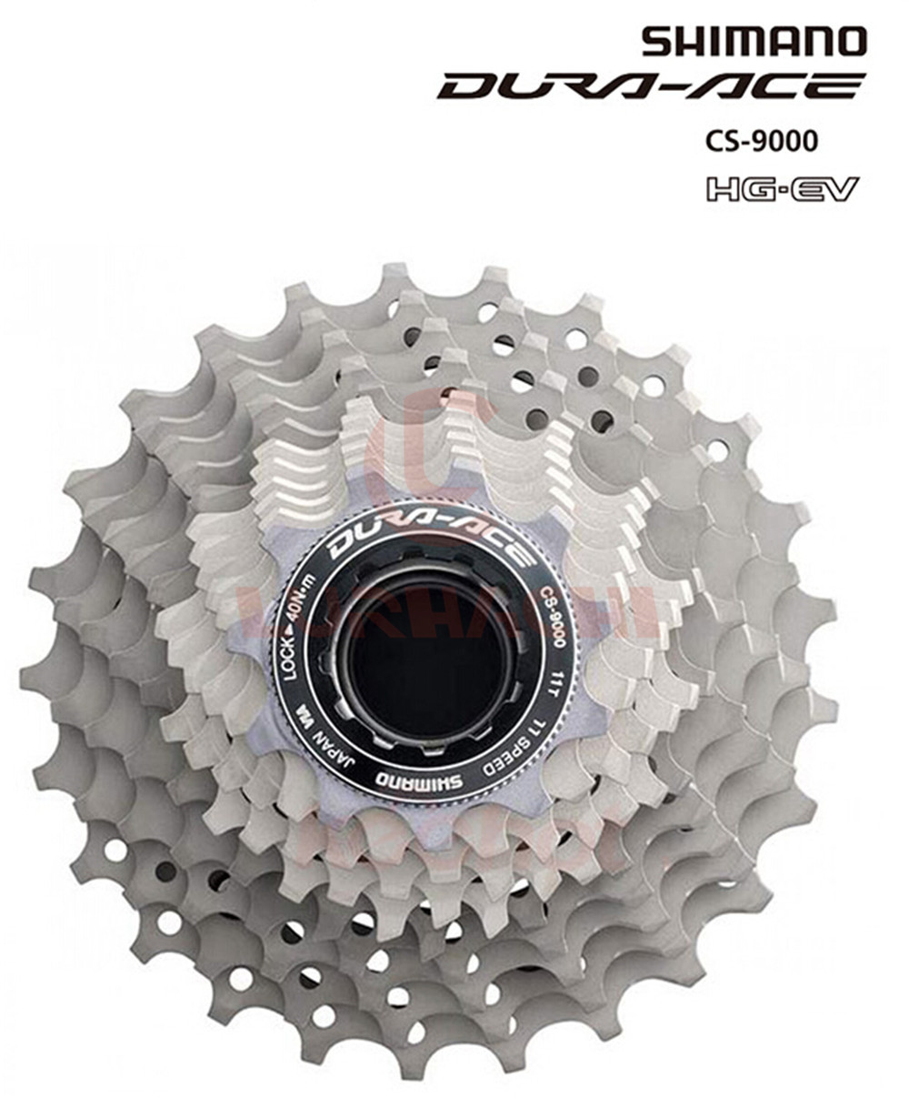 Original DURA-ACE CS-9000 Cassette Free Wheel Bicycle Derailleur System Road Bike Accessories Component Parts free shipping 2014 original dura ace 9000 2 11 speed mtb road bike groutset top level bicycle derailleur 8 piece set