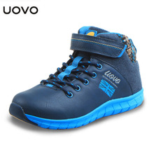 UOVO Children's shoes Soft Sole Boys Casual shoes Waterproof Child Lace-up Sport Shoes Non-Slip Sneaker for Kids Toddler baby