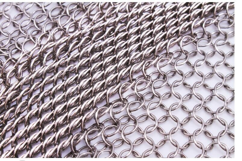 7mm 304 Stainless Steel Chain Mesh Welded Wire Mesh Touch