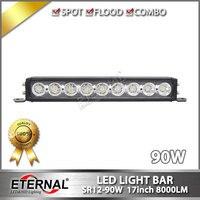 90W Light Bar 17 Led Driving Lamp For Wrangler Offroad 4x4 ATV UTV Vehicles Truck Trailer