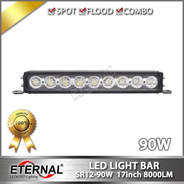 2pcs 90W light bar 17 led driving lamp for Wrangler offroad 4x4 ATV UTV vehicles truck trailer hood bumper bullbar light 2pcs truck light 4 leds lamp