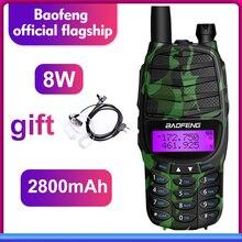 Walkie talkie baofeng RS UV800 radio de dos vías 8w Dual banda UHF y VHF transceptor de Radio portátil radio estación de Radio CB