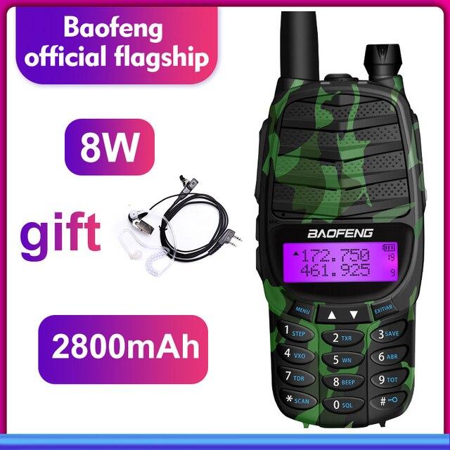 walkie talkie baofeng RS UV800 two way radio 8w Dual Band UHF&VHF Portable radio Transceiver Ham Radio CB Radio Station