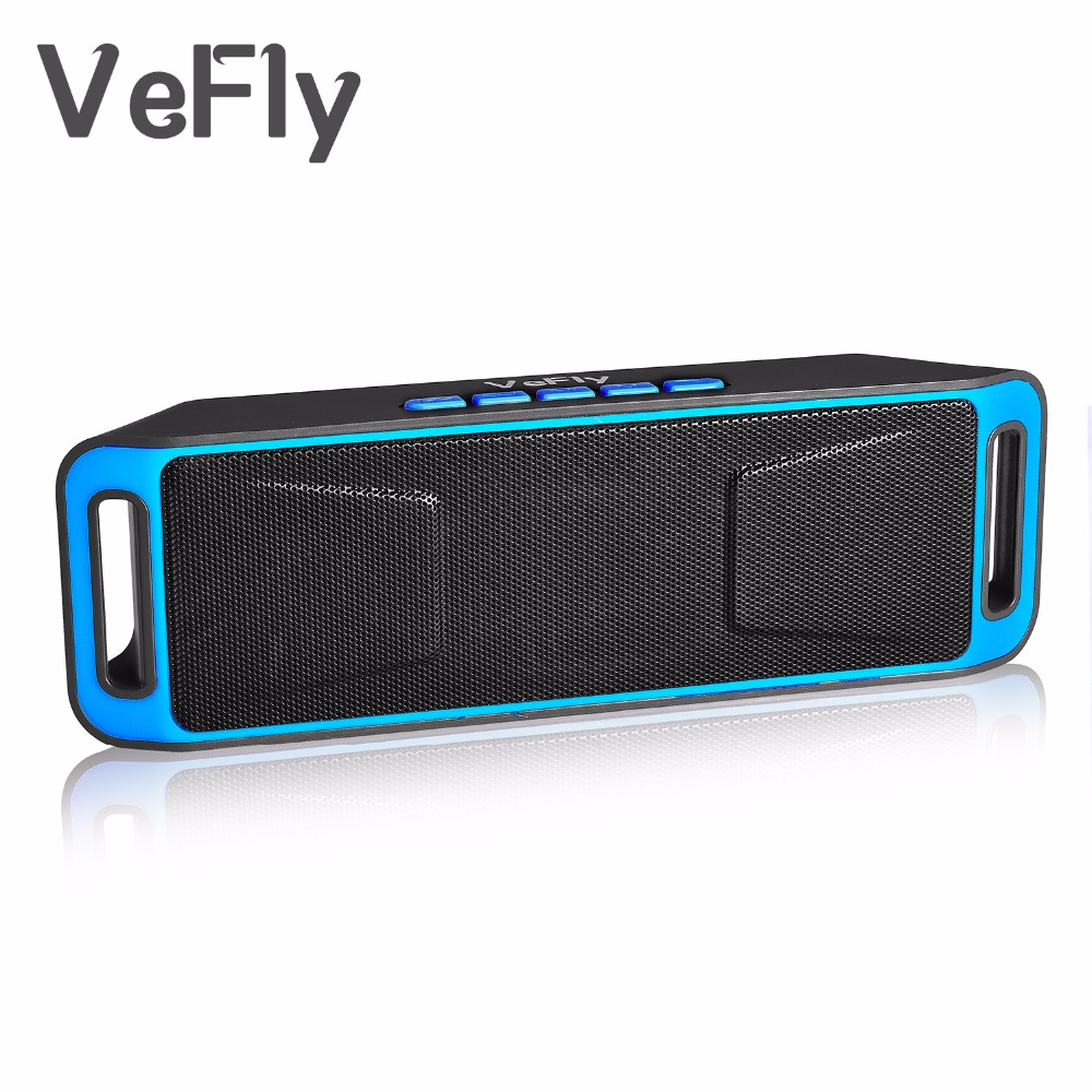 VeFly Wireless 4.2 Bluetooth Speaker, lajur Stereo Subwoofer USB Pembesar suara komputer TF Built-in Mic Bass mp3 player Sound Box