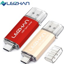 LEIZHAN 2pcs Photostick Type C USB Flash Drive 16GB 32GB 64GB 128GB High Speed USB 3.0 Pendrive Pen drive USB C Memory stick leizhan otg usb stick type c pen drive 256gb 128gb 64gb 32gb 16gb usb flash drive 3 0 high speed pendrive for type c device usb