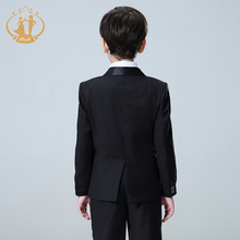 5pcs/Set Boys Suits For Weddings Kids Prom Suits Black Wedding Suits Kids Blazers Boys Clothing Set Boy Formal Classic Costume