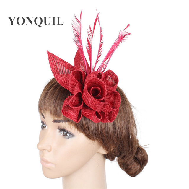 New arrival DIY hair party fascinators hat with feather fascinator party  hair clip decoration bridal wedding cocktail headwear b28229265d5