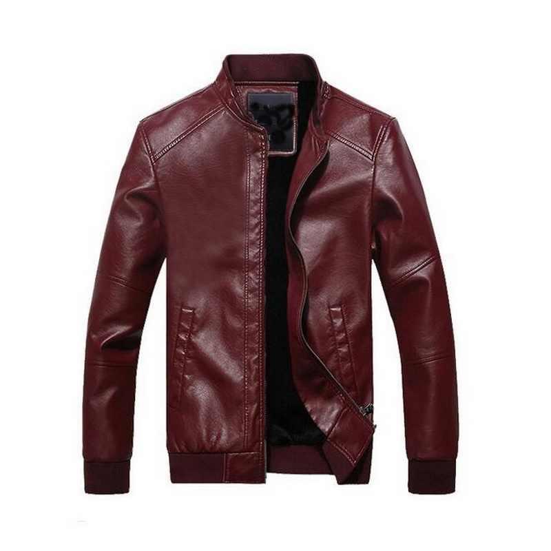 2019 VXO куртка из искусственной кожи, кожаные куртки для мужчин, зимняя меховая тонкая куртка из искусственной кожи, Chaquetas De Cuero, Мужская мотоциклетная куртка
