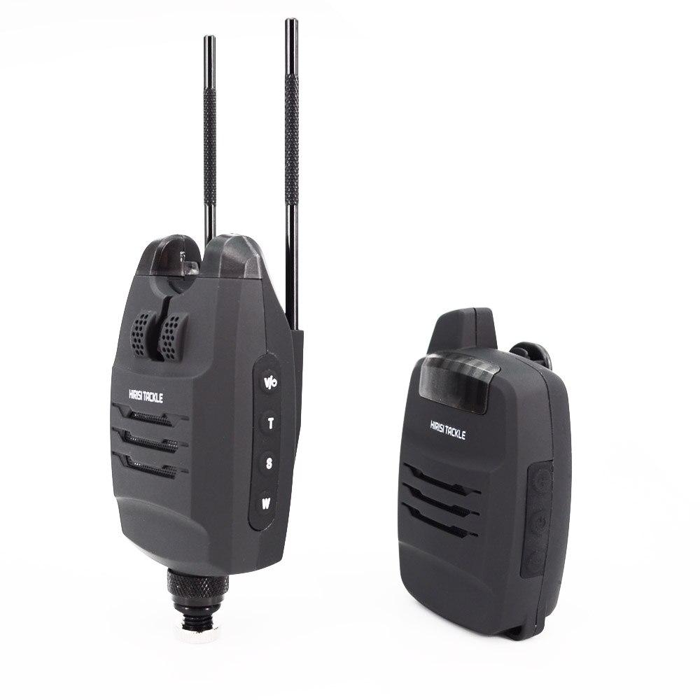 1 + 4 Set d'alarme de pêche à la carpe sons et LED alarme sans fil indicateur d'alarme de morsure de pêche électronique avec barre d'oreille accrochée B1228 - 5