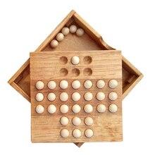 1 Набор деревянные пасьянсы шахматы настольная игра Классическая интеллектуальная игрушка для детей и взрослых модные плитки игры игрушки