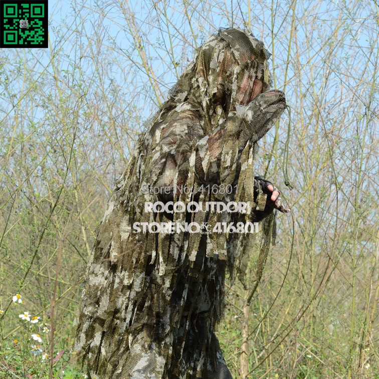 ФОТО Tactical Sniper Ghillie Suit Lightweight Voice Silent City Urban Leaf Yowie Fishing Hunting Wargame CS Paintball Airsoft Suit