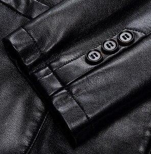 Image 5 - Dropshipping xuân thu rời lưng áo khoác da nam Plus da size áo khoác nam phối da