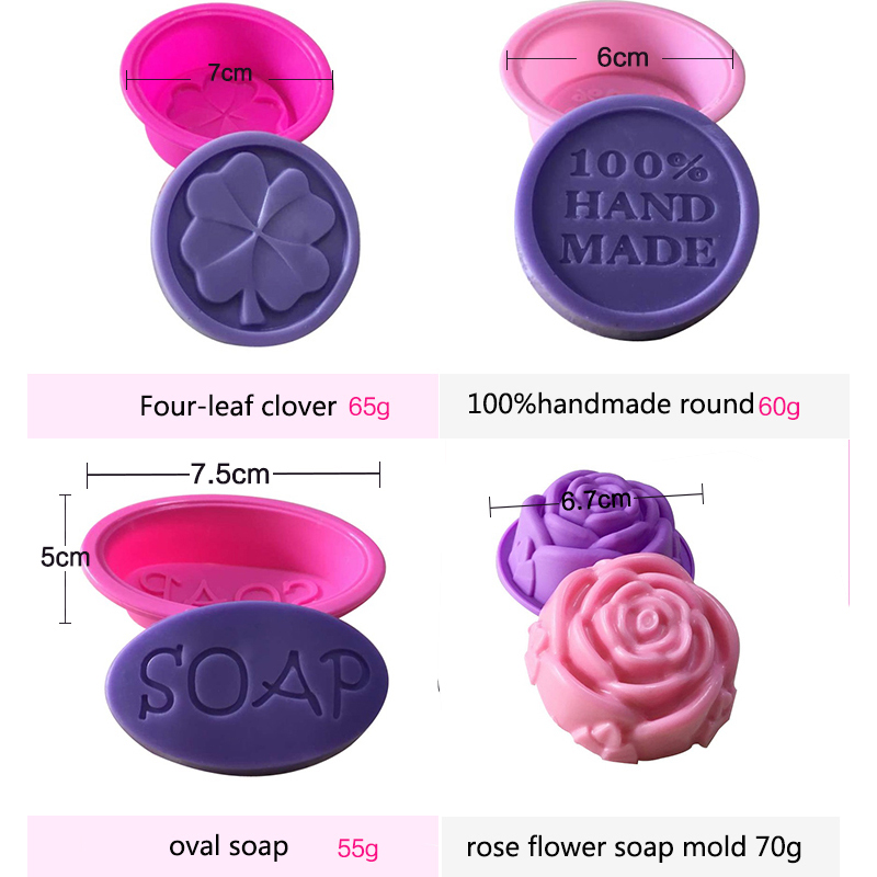 Image 5 - 100% Handmade DIY Silicone Soap Mold Soap Making 3D Oval Rectangle Soap Mould Craft Flowers Bathroom Kitchen Soap Mold-in Soap Molds from Home & Garden