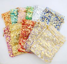 Rose Design Organza Bags Jewelry Gift Pouches Candy Bag GB039 11colors 13X18cm Gold