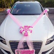 Для свадьбы Искусственные цветы украшение автомобиля Сделай Сам Шелковый цветок день Святого Валентина поддельные цветы наборы свадебные венки вечерние украшения