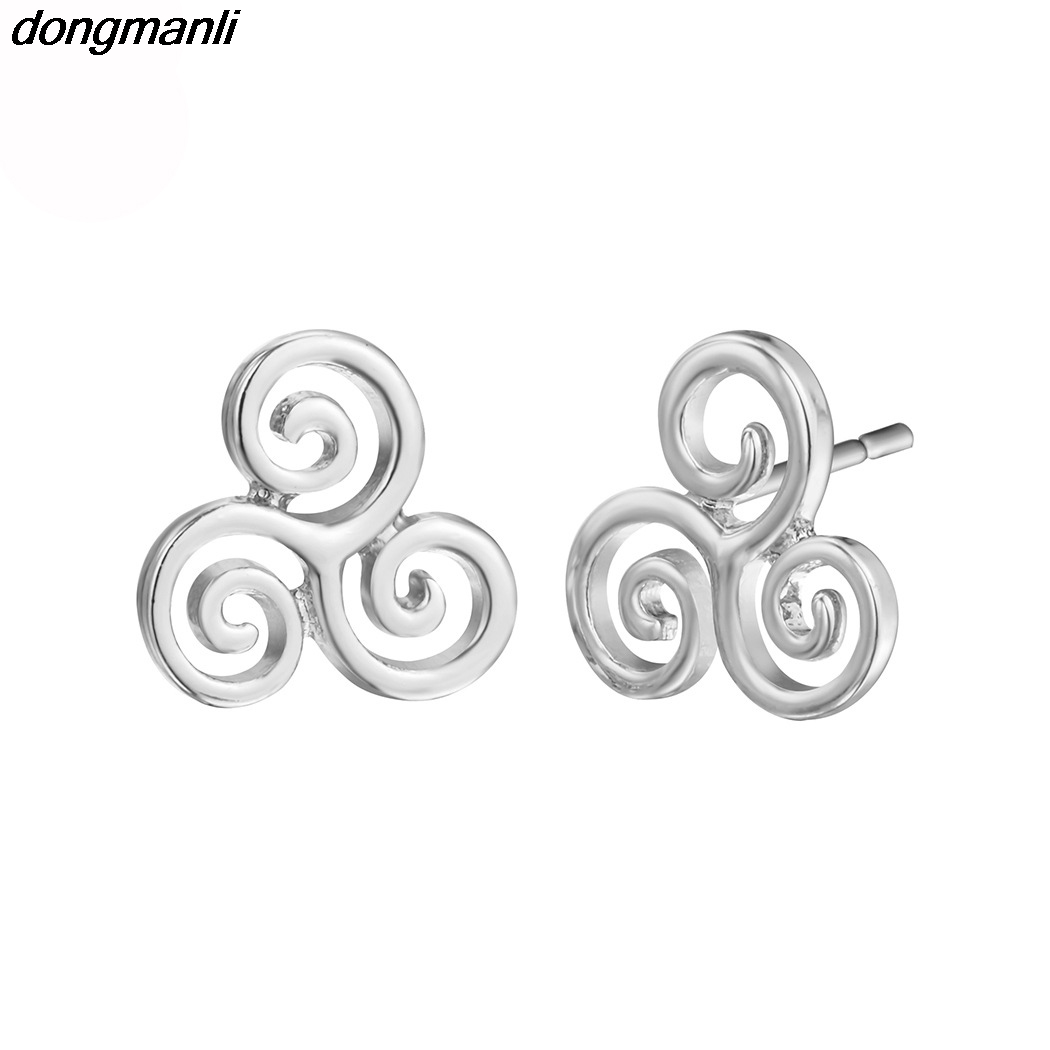 P806 Dongmanli Fashion jewelry Teen Wolf earrings Triskele