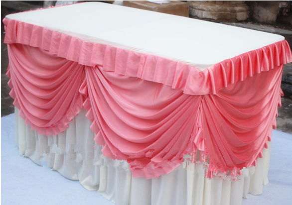 Delicieux Wedding Table Skirt Ice Silk Solid Table Skirting For Party And Banquet  Table Decoration Customized Item