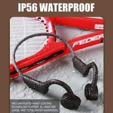 Bluetooth 5,0 беспроводной наушники костной проводимости Открытый Спорт гарнитура с микрофоном гарнитуры