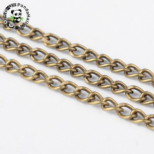 Image 2 - 100 m/rolle 3x 1,6mm Gold Rotguss Antike Bronze Rot Kupfer Silber Farbe Twist Eisen Halskette Kette für schmuck Machen Kommen Auf Reel