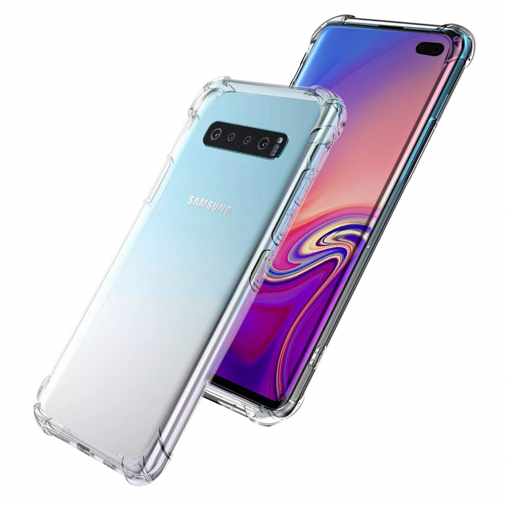 ZRICKIE Transparent Shockproof Case For Samsung Galaxy S10 S9 Plus Phone Case Silicone Cover For Samsung S10 S10E S9 Case Fundas in Fitted Cases from Cellphones Telecommunications