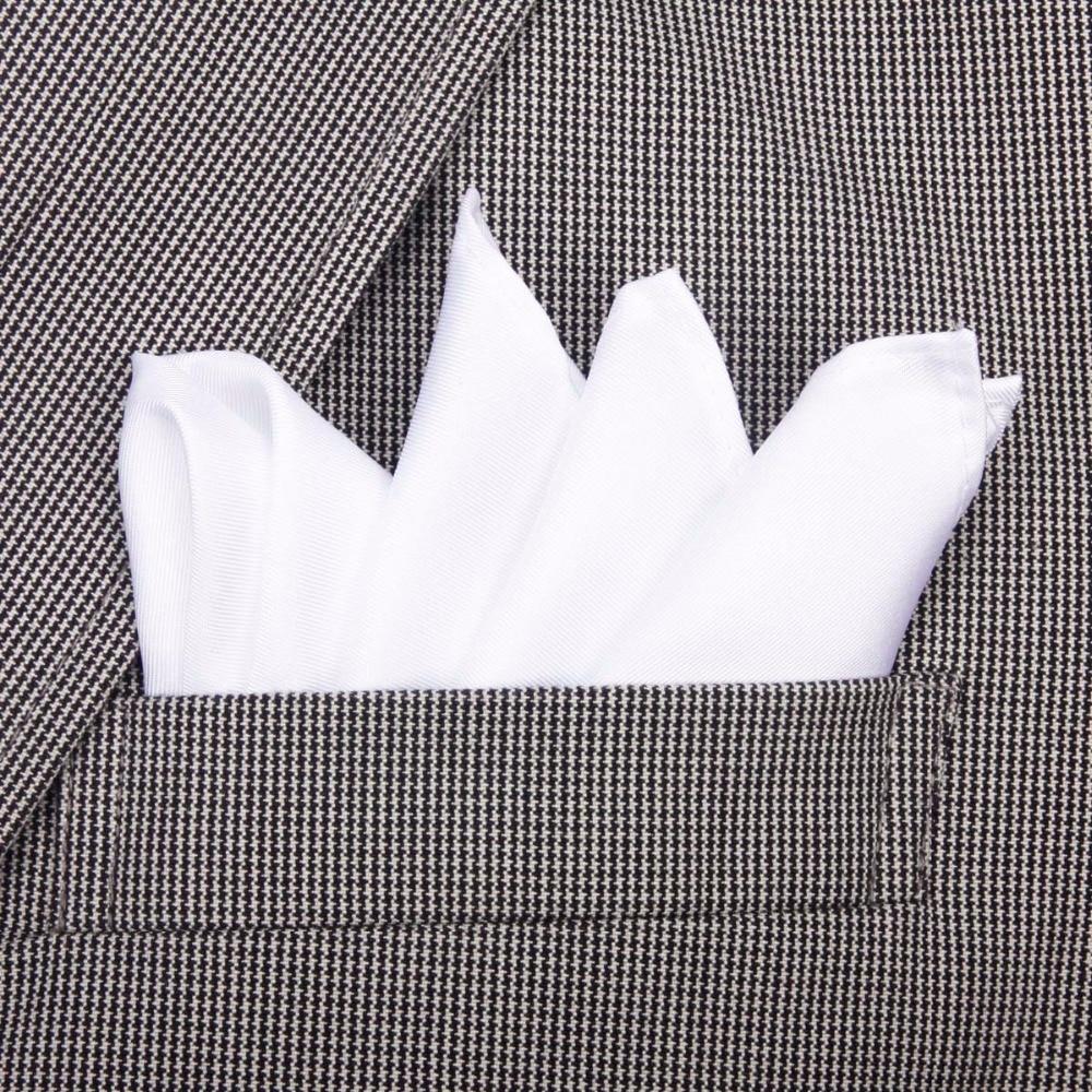 100% dabīgs zīda roku darbs, klasiskās baltas kabatas lakatiņš, - Apģērba piederumi - Foto 2