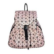 Fashion BAO BAO Women Backpack Diamond Lattice Geometry Quilted font b Ladies b font Japan Backpack