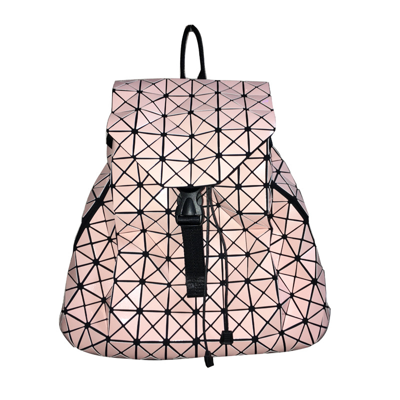 Fashion BAO Women Backpacks Diamond Lattice Geometry Quilted Ladies Japan Backpacks Sac  ...