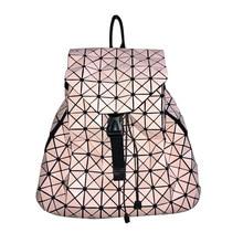 Fashion Women Backpacks Diamond Lattice Geometry Quilted Ladies Japan Backpack Sac Drawstring School Bag For Teenage