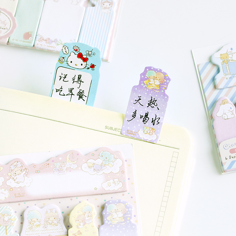 6 PCS/LOT Kawaii DIY Decoration Memo pad Cute Animal Cartoon post it stickers planner Stationery Office School supplies 01931