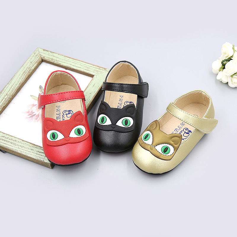 Spring Girls Shoes New Girls Princess Shoes Children Leather Shoes Cute Cartoon Baby Sandals