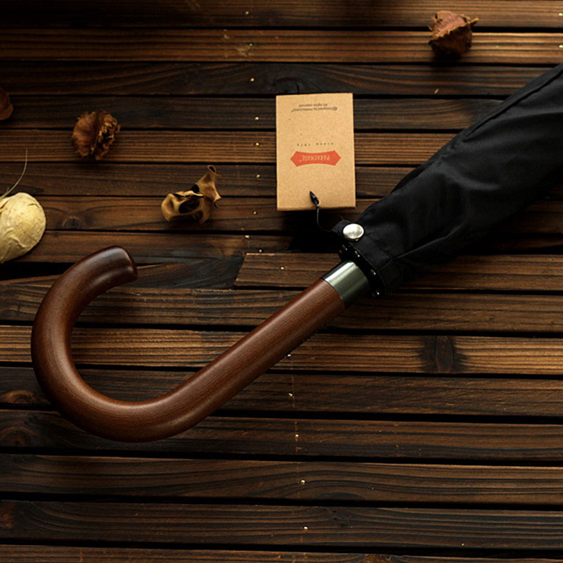 Image 3 - New Arrival Japanese Brand Long Umbrella 8K Windproof Wooden Handle Large Men Umbrellas Rain Quality Classic Business Paraguas-in Umbrellas from Home & Garden