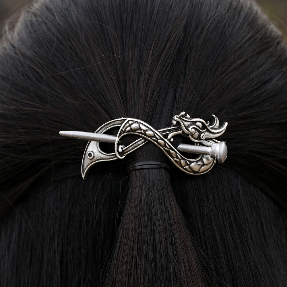 Norse Dragon Hairpins Hair Clips Stick Slide Accessories F-07