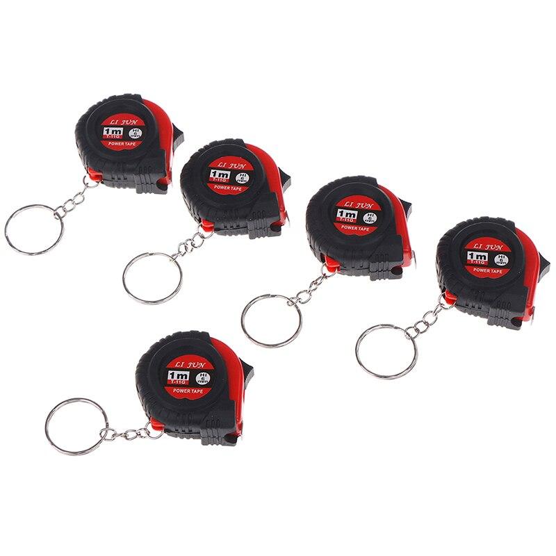 1pc Mini Retractable Tape Measure Ruler Portable Pull Ruler 1M Keychain Retractable Ruler Heart-shaped Tape Measure