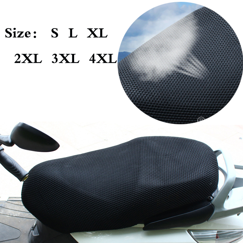 All Size 3D Motorcycle Net Seat Cover Anti-slip Waterproof Motor Seat Cooling Protector Ventilated Cushion Pad Net