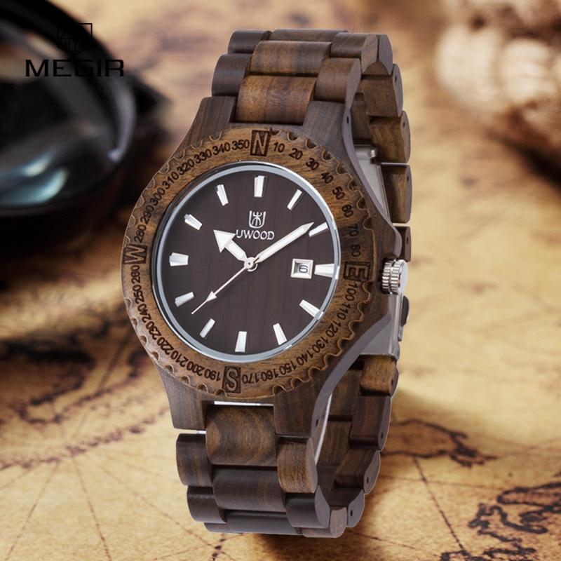 ФОТО New Arrival Casual Original Wood Watches Men's Wristwatch Classic Folding Clasp Quarzt Watch Movement Wooden Wristwatch Unisex