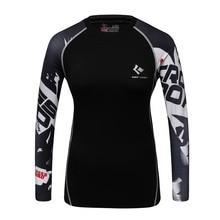 Lady Fitness Compression Shirt 3D Printed T-shirts Women Slim Long Sleeve MMA Rashguard Cosplay Costume for Ladies Tops Female