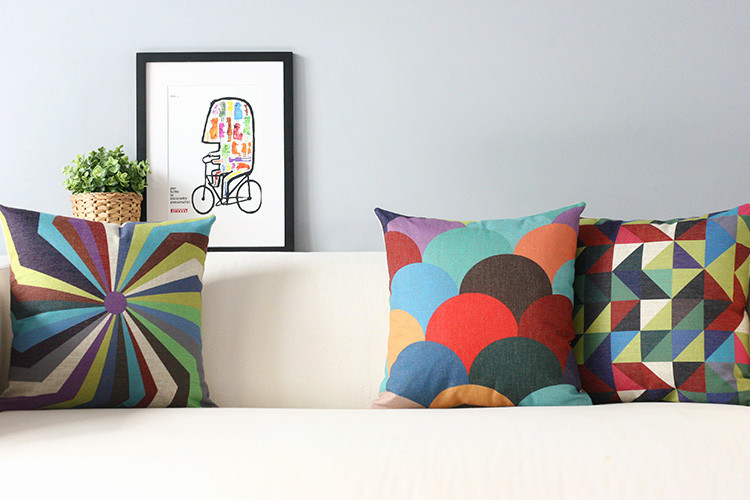 Dream Geometric Decorative Pillow s Simple Modern Home Pillow Decoration Scandinavian color Pillows Decorate