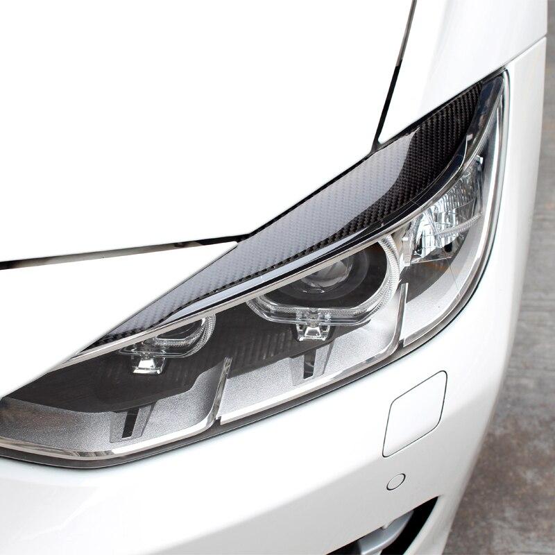 JXSMQC 2pcs Phare Avant en Fibre de Carbone Couvre Les Sourcils des paupi/ères./pour BMW 525i 530i 540i 2017-2019 G30 G31 F90 M5 Berline