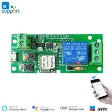 EweLink akıllı USB 5V DIY 1 kanal Jog Inching kendinden kilitleme WIFI kablosuz akıllı ev anahtarı uzaktan kumanda amazon Alexa ile